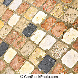 in varano abstract pavement of curch and - in varano borghi...