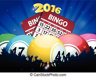 New Years Bingo balls and cards - Bingo Balls Cards and...