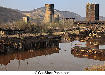Industrial ruins - Ruins of a very heavily polluted...