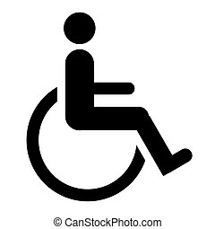 Disabled sign - Silhouette of disabled person in wheelchair...