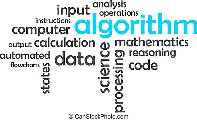 word cloud - algorithm - A word cloud of algorithm related...