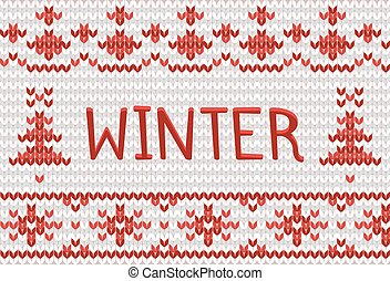 Knitted winter background