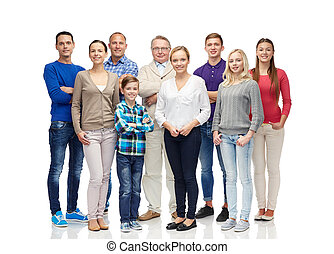 group of smiling people