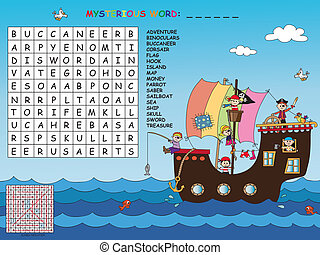 crossword - Game for children : find all words (horizontal,...