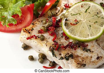 pez, ensalada