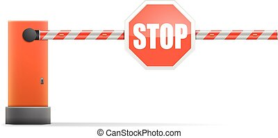 Car Barrier - detailed illustration of a car barrier with...