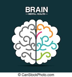 mental health design - mental health design, vector...
