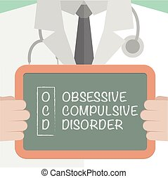 Medical Board OCD - minimalistic illustration of a doctor...