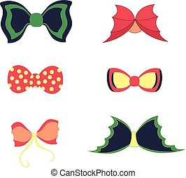 Set with Colorful Bowties