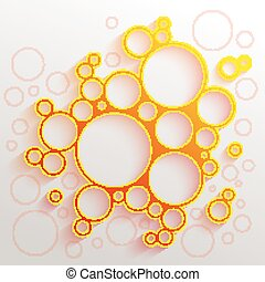 Infographics red and orange gradient circles meatball shape...