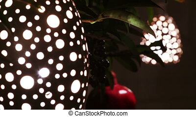 Decorative lamp with holes