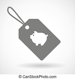 Label icon with a pig