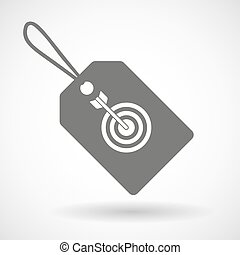Label icon with a dart board - Illustration of a shopping...
