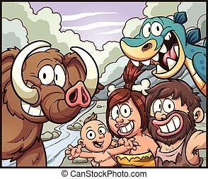 Caveman family