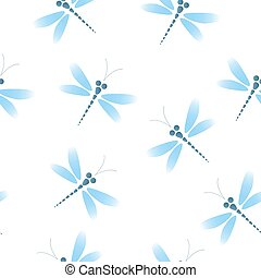 Seamless pattern with dragonflies.