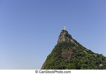 Corcovado Mountain with Christ Redeemer Statue, Rio de...