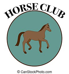Vector label for horse club.