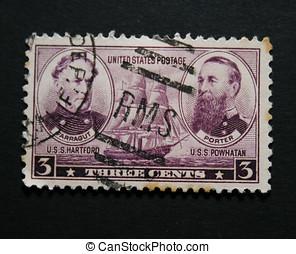 Amercian vintage postage stamp co - American old postage...