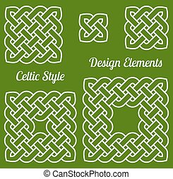 Celtic style knot design elements - Celtic style knot frames...