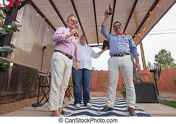 Gay Couple in Ceremony