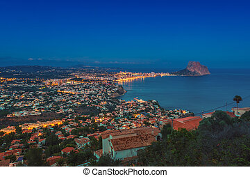 Aerial view of Calpe, Spain