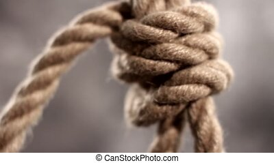 rope slipknot in concept suicide macro shot - rope slipknot...
