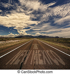 Conceptual Image of Road With the Word New Mexico