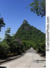 Corcovado Mountain with Christ Redeemer Statue, Rio de...