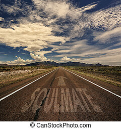 Road With the Word Soulmate
