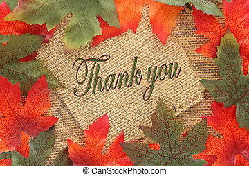 fall background thank you - Fall background with green and...