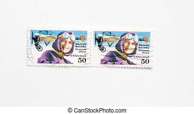 Usa postage stamps of harriet quimbly - Double stamp of...