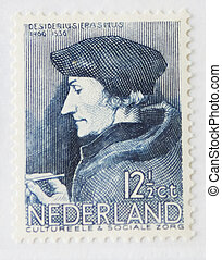 Erasmus of Rotterdam - Vintage Dutch postage stamp with...