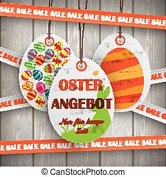 Sale Price Stickers Oster Angebot Wooden Wall - Price...