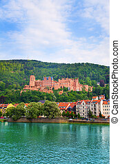 View of Heidelberg castle and Neckar river - Beautiful view...