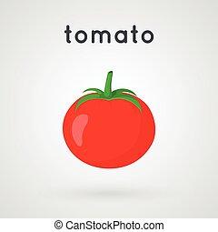 Red ripe tomato.