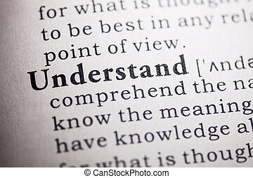 understand - Fake Dictionary, Dictionary definition of the...