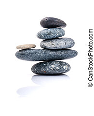 The stacked of Stones spa treatment scene zen like concepts.