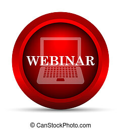 Webinar icon. Internet button on white background.