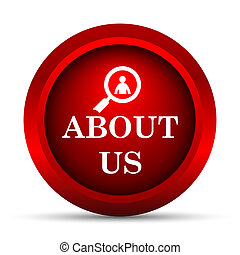 About us icon Internet button on white background