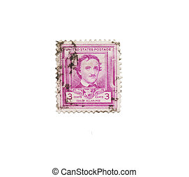 Usa postage stamp of Edgar Allen Poe - Vintage postage stamp...