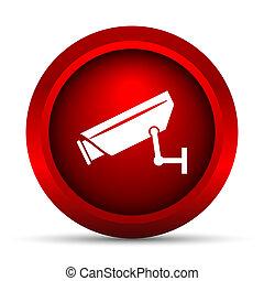 macchina fotografica, sorveglianza, icona