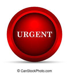 Urgent icon. Internet button on white background.