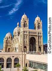 Cathedral de la Major in Marseille, France - MARSEILLE -...