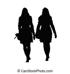 woman beauty black vector silhouette