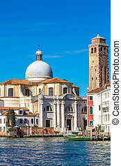Canal Grande in Venice, Italy - Canal Grande and San Geremia...