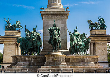 Heroes square in Budapest, a square dedicated to the...