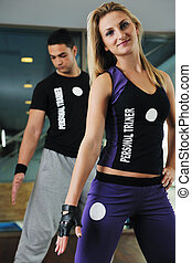 perosnal trainer - fitness personal trainer in fitness club...