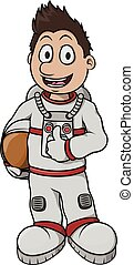 Astronaut Boy cartoon illustration