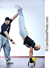 personal trainer man - man fitness personal trainer in sport...