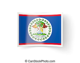 Bent icon with flag of belize